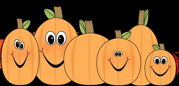 October pumpkins clipart