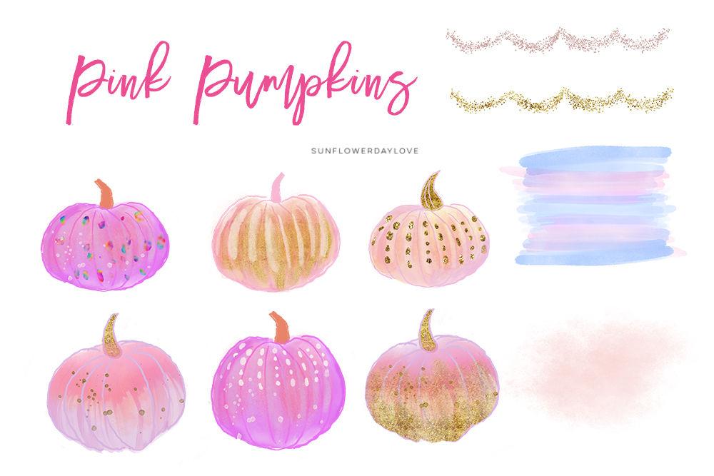 Pink pumpkin clipart.