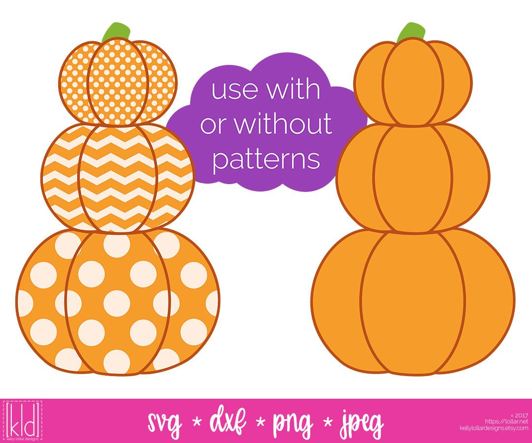 Love this Stacked Pumpkin svg file