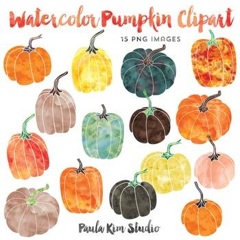 Pumpkin clipart watercolor.