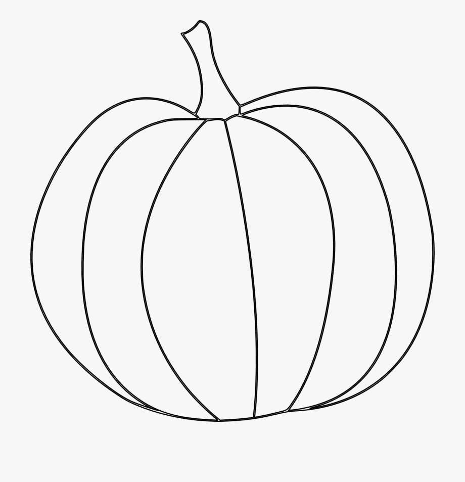 Pumpkin Line Drawing Clip Art