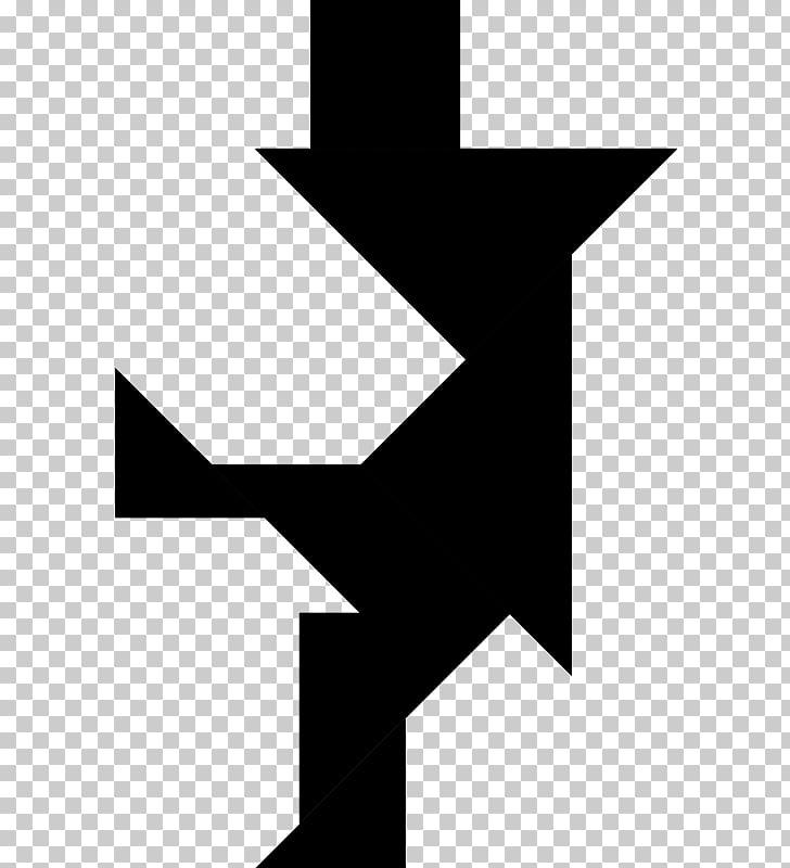Tangram puzzle black.