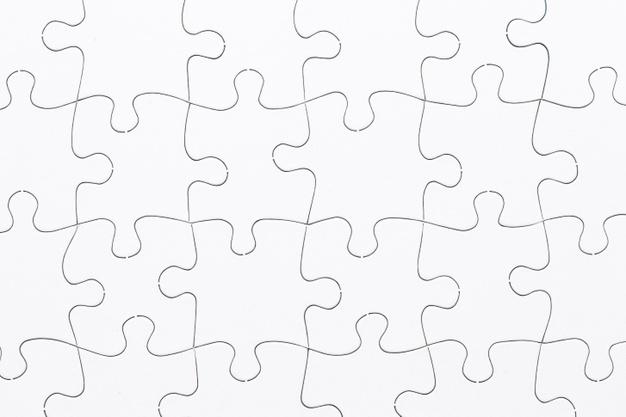 Puzzle pieces vectors.