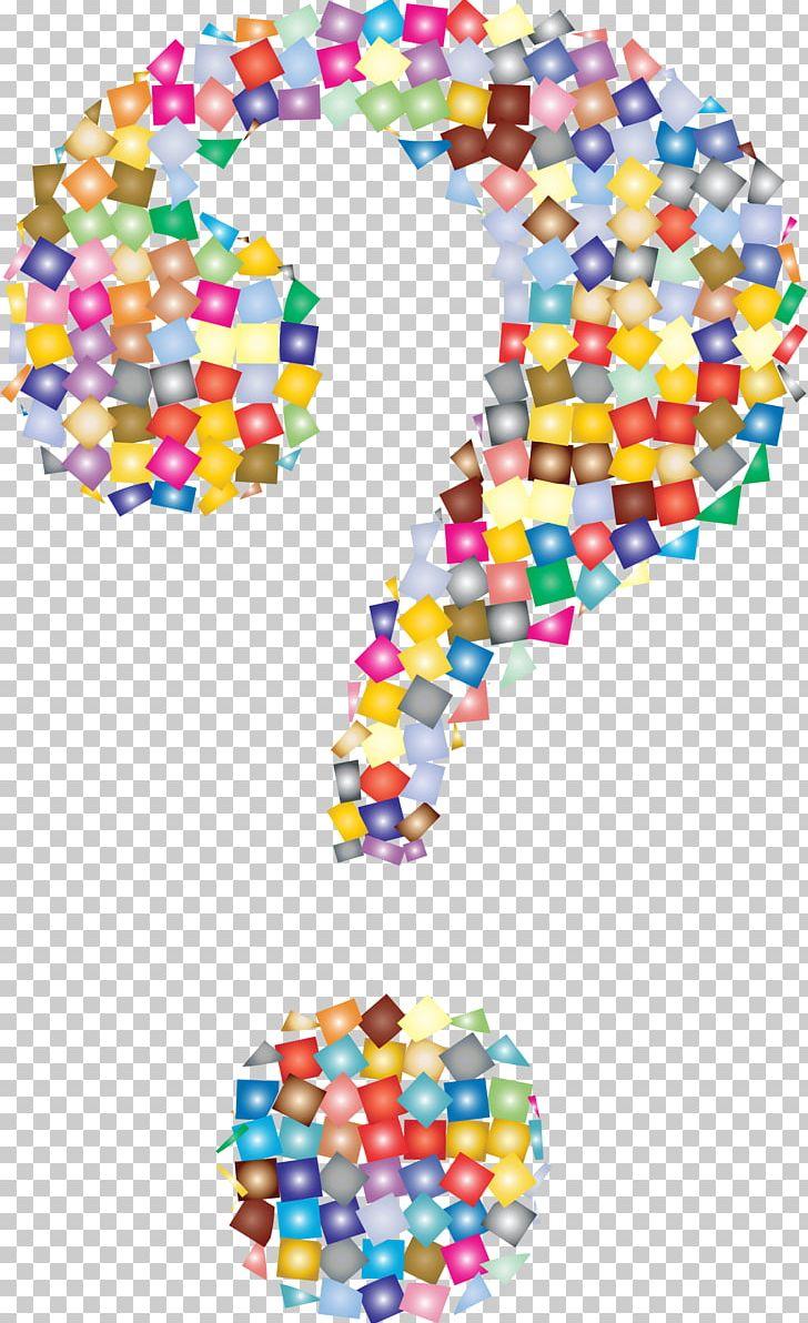Question mark rainbow.