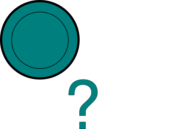 Question mark teal.