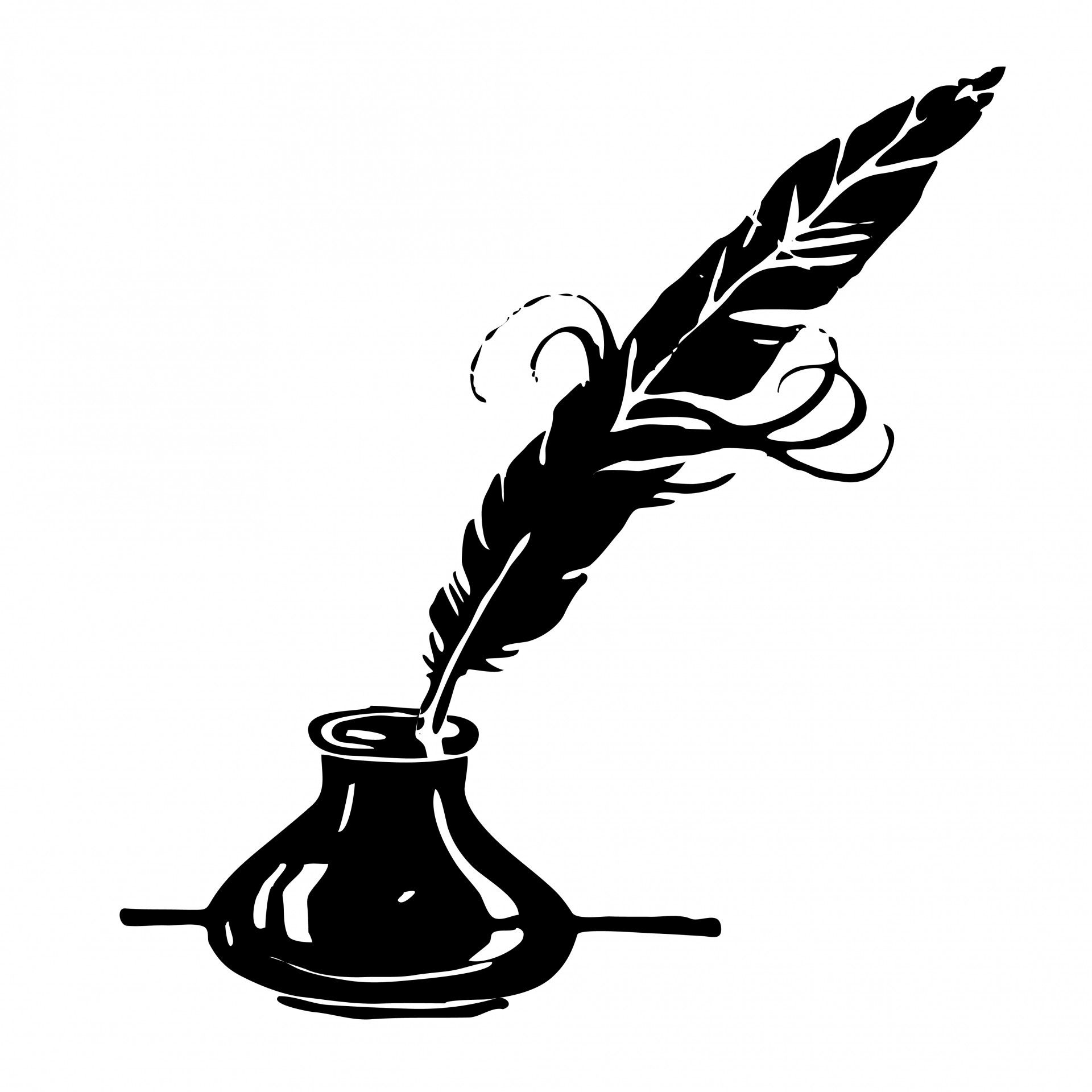 Quill and ink icon
