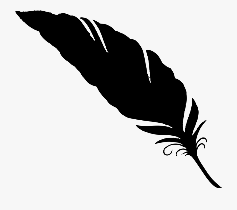 Quill clipart silhouette.