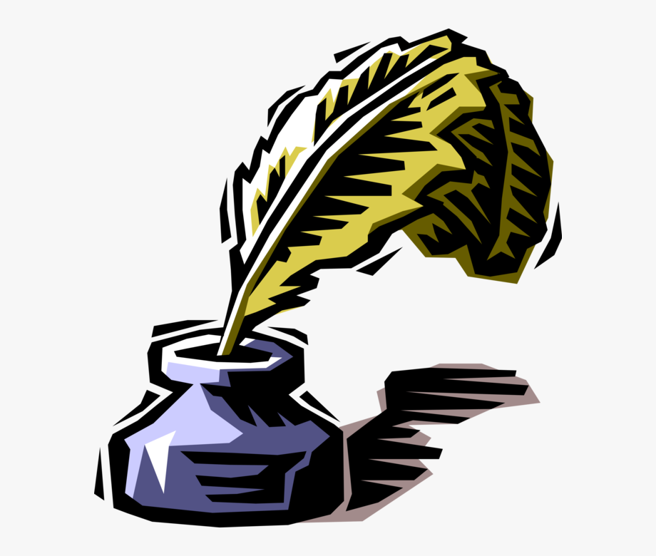 Vector illustration quill.