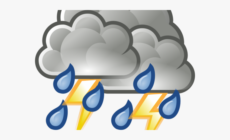 thunderstorm clipart angry