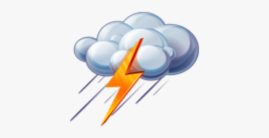 Thunderstorm clipart cloudy.