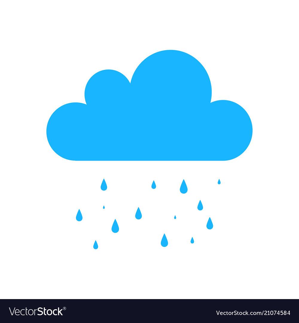 Blue rain icon.
