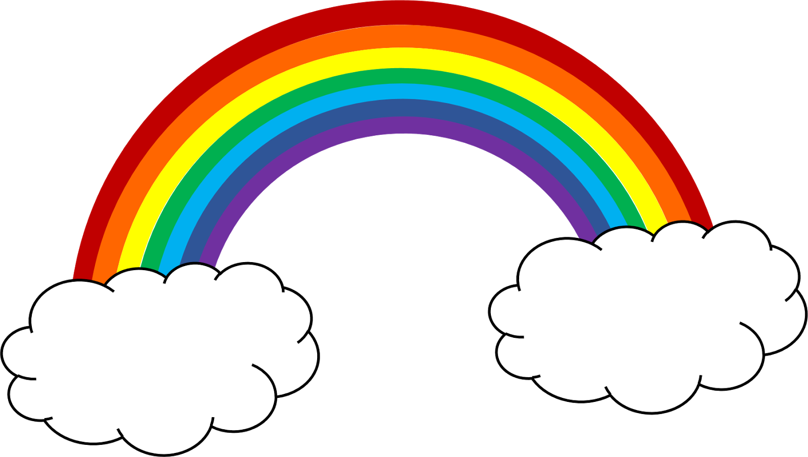 Free rainbow cliparts download.