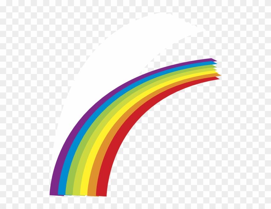 Cartoon Half Rainbow Clipart
