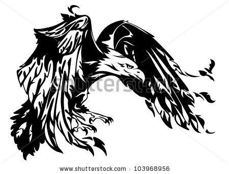 Raster flying eagle.