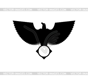 Eagle and circle.