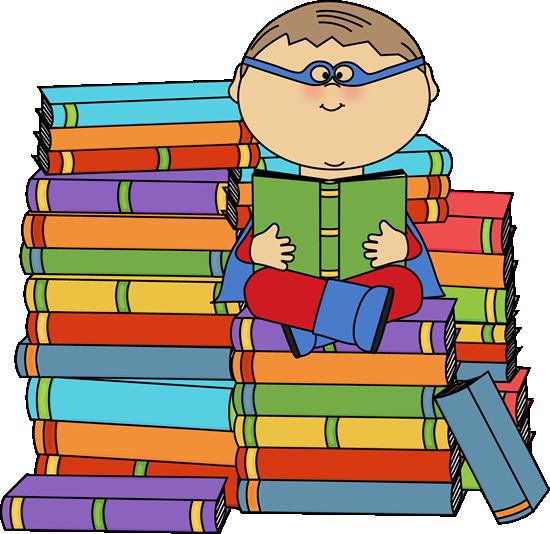 Super hero reading.