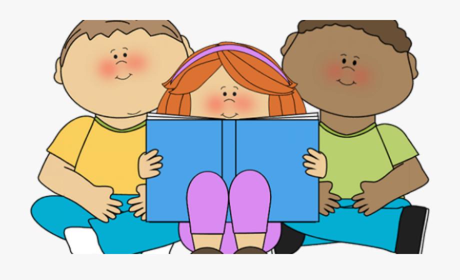 Clipart children reading.