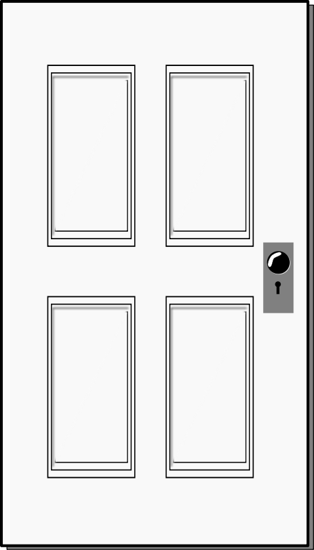 Rectangle door clipart.