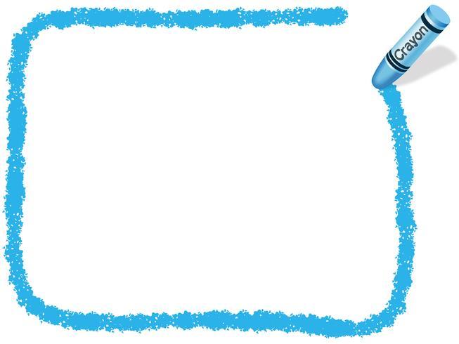 Blue rectangle crayon.