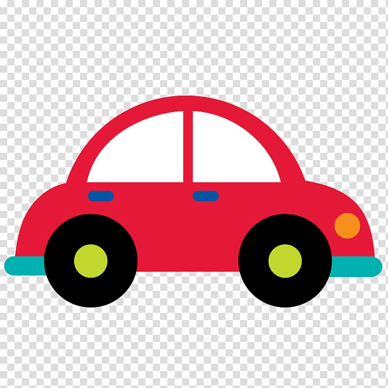 Red car clipart clear background. Illustration transport cartoon