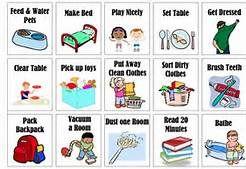 chore chart clipart clean room