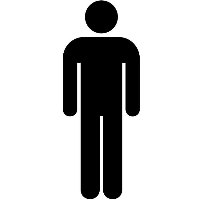 Toilet for men vector sign