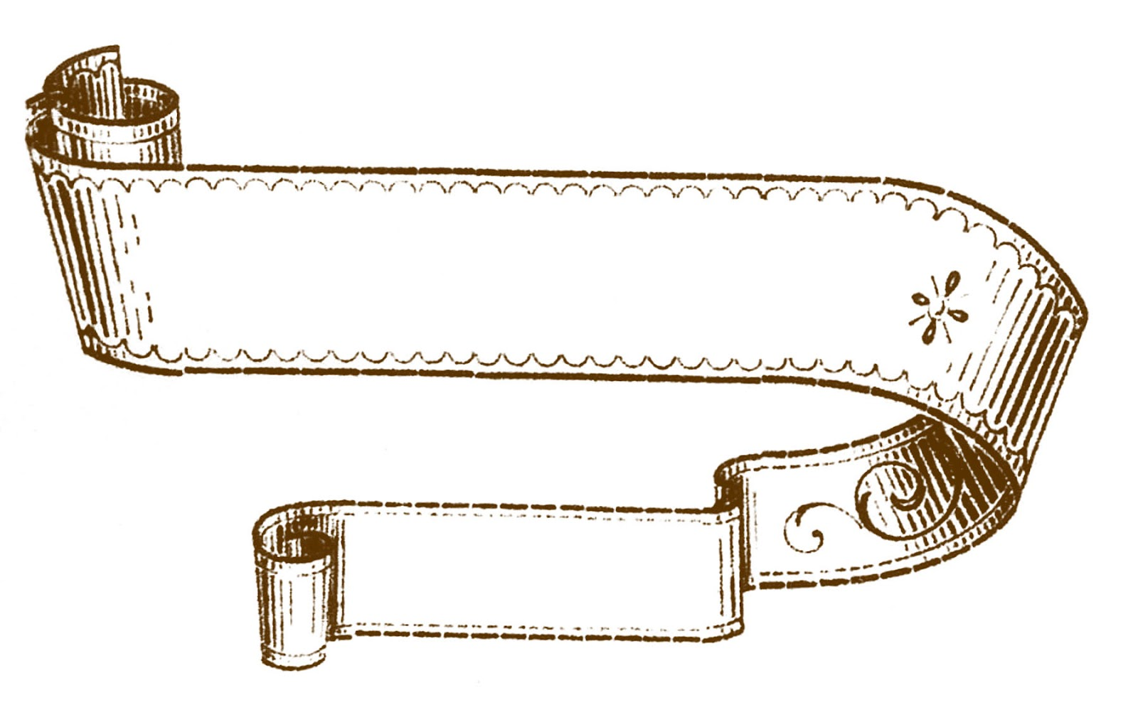 Free victorian ribbon.
