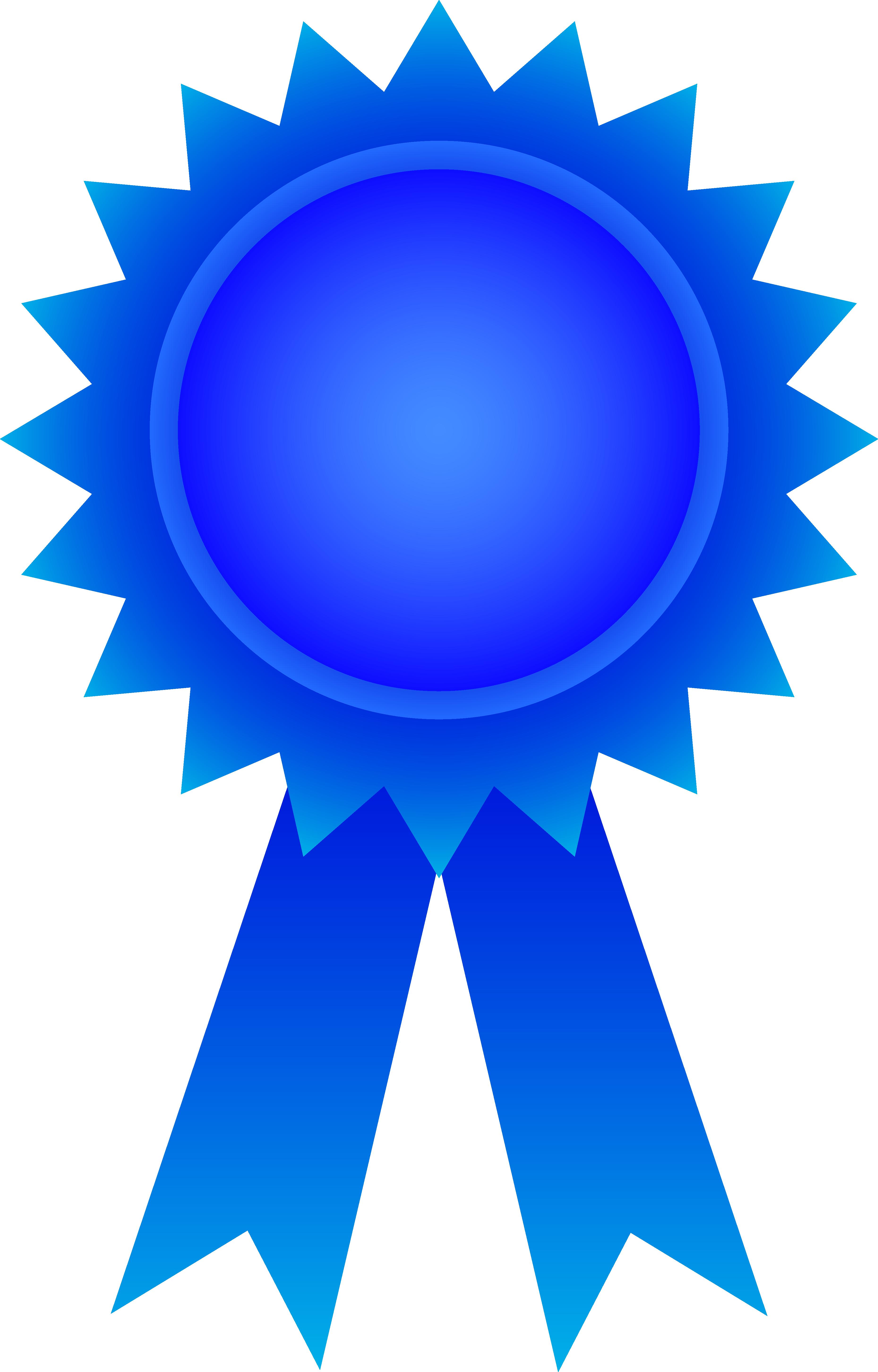 Free blue ribbon.