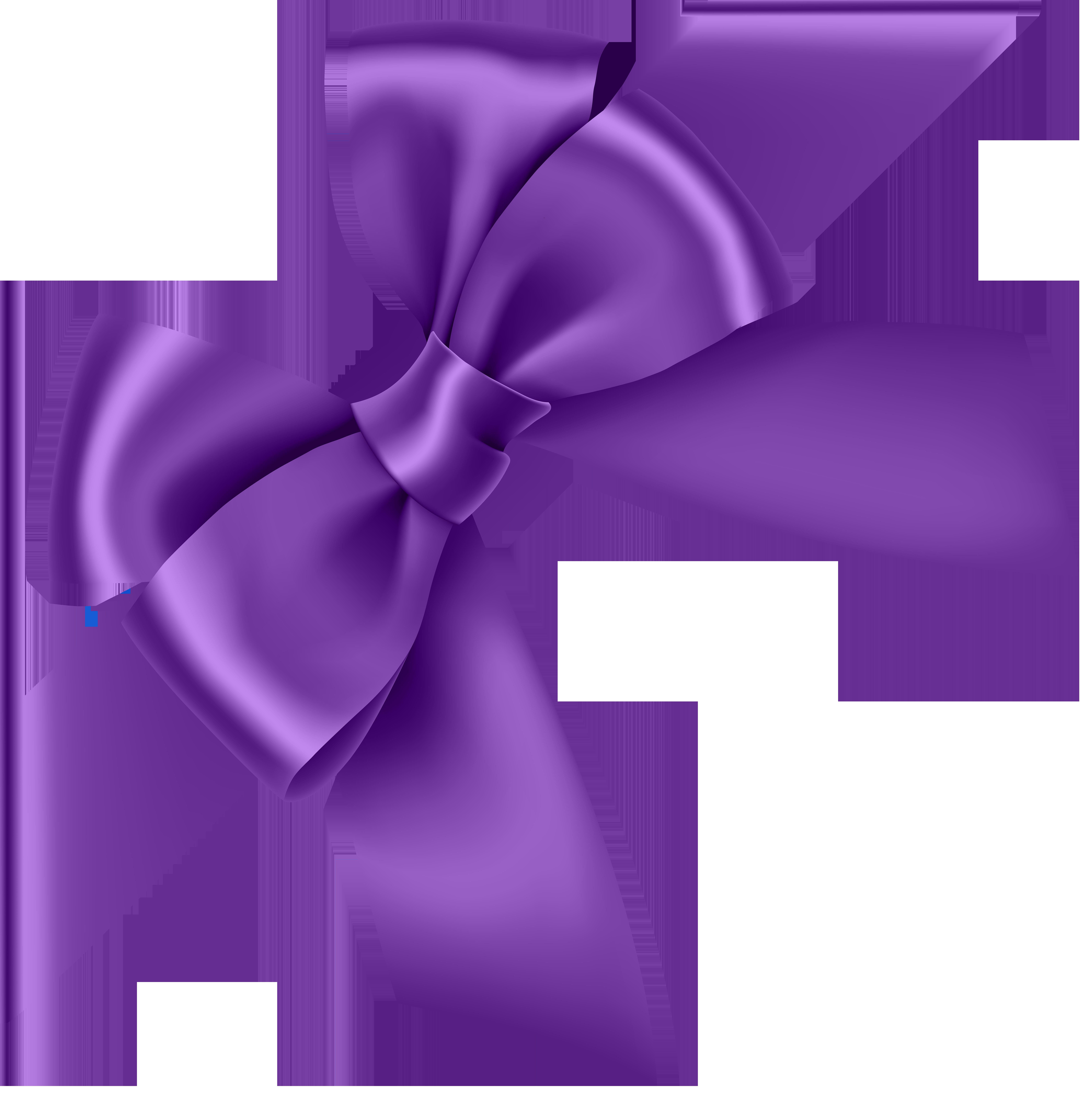Purple Corner Bow Transparent Clip Art Image