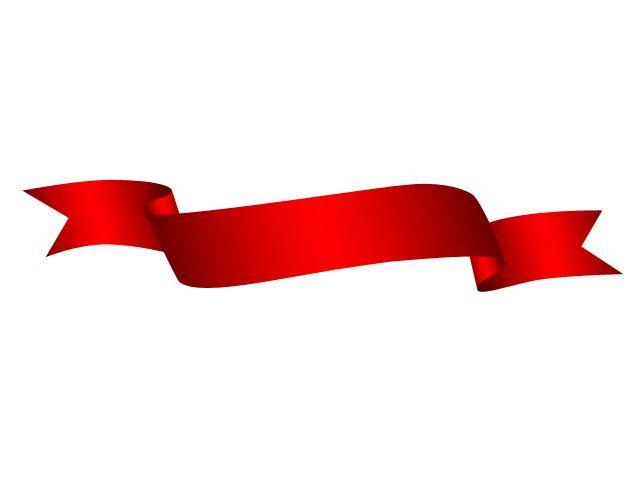 Red ribbon ribbon.