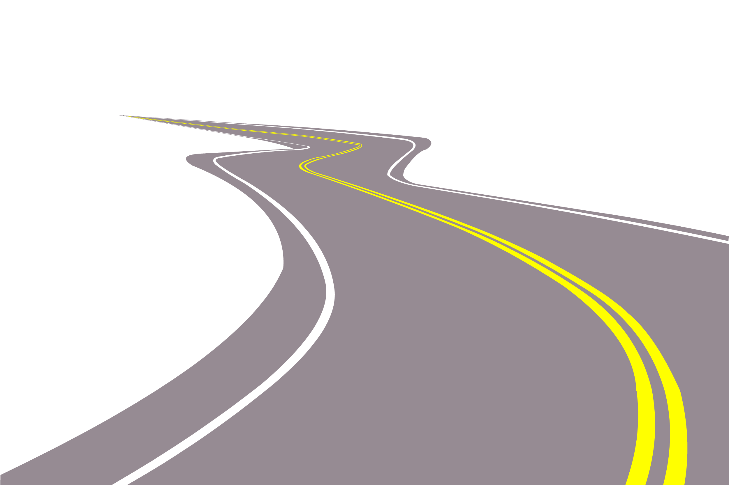 Clipart road perspective.