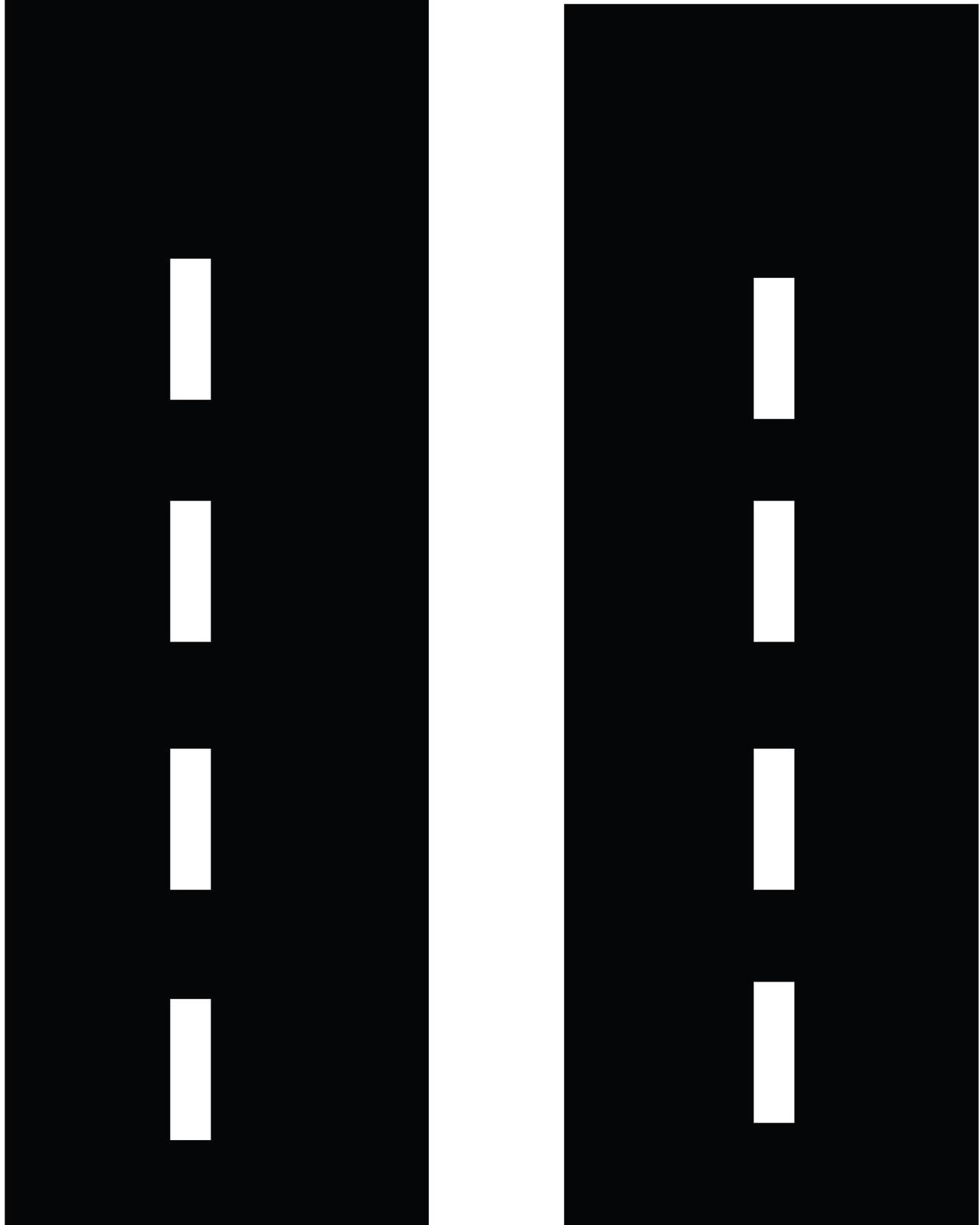 Free straight road.