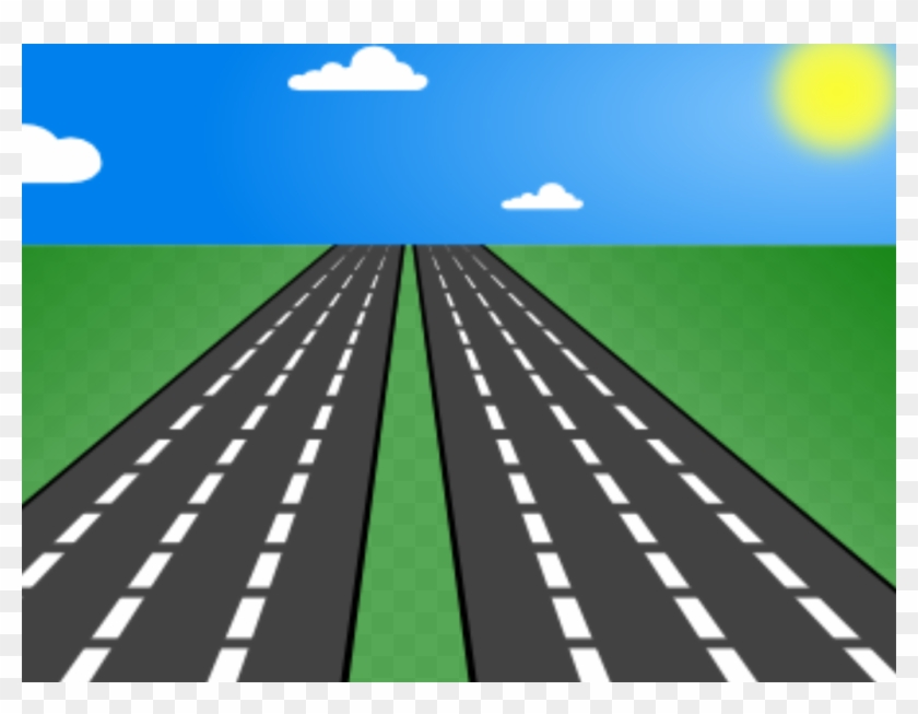Clipart road straight.