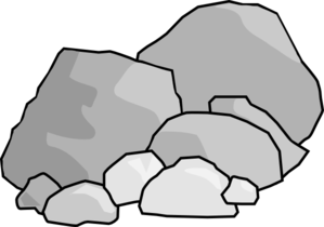 24 rock clipart.