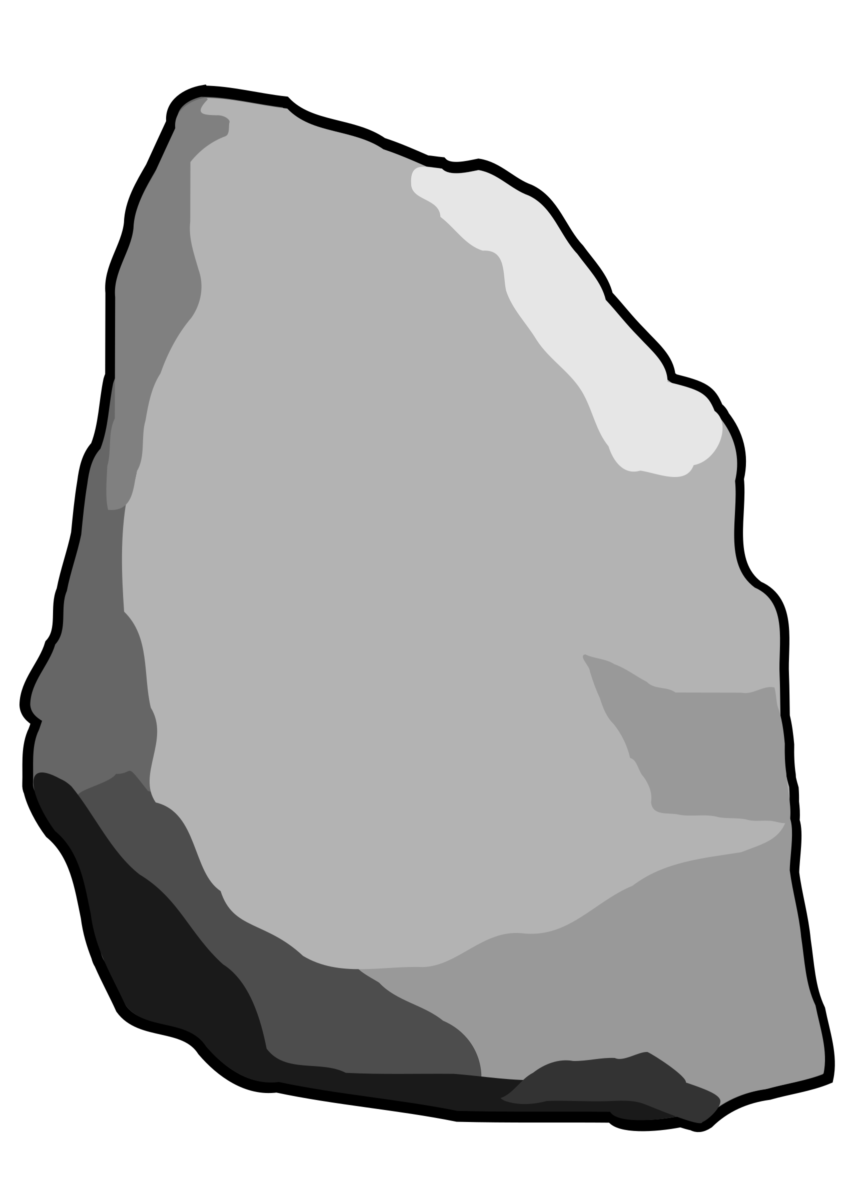 Grey stone rock.