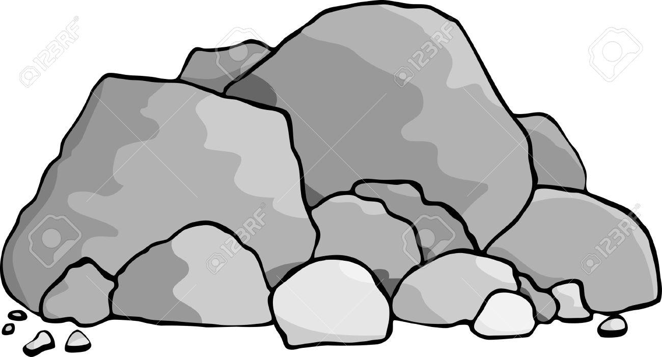 Pile rocks clipart.