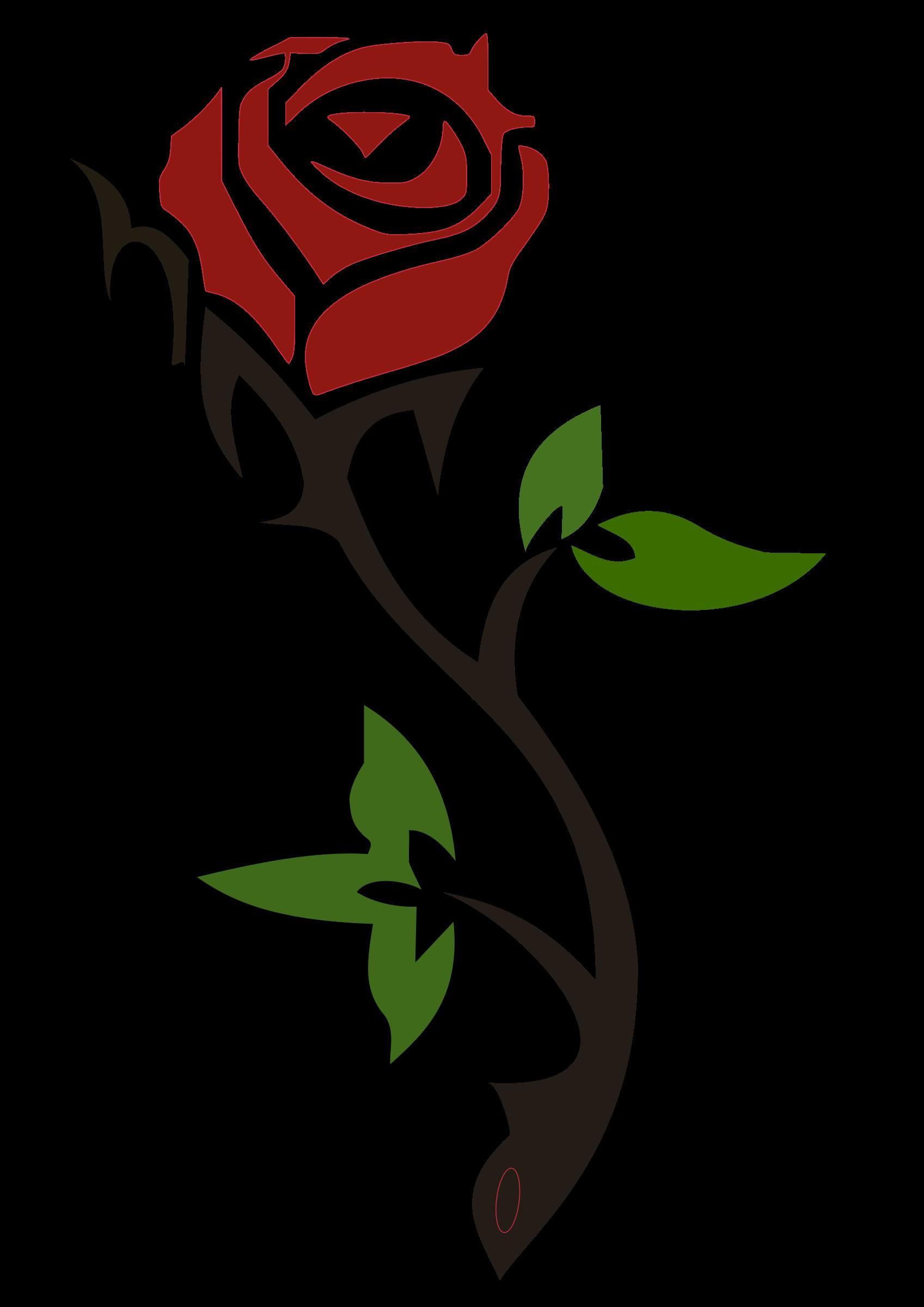 Rose clipart basic.
