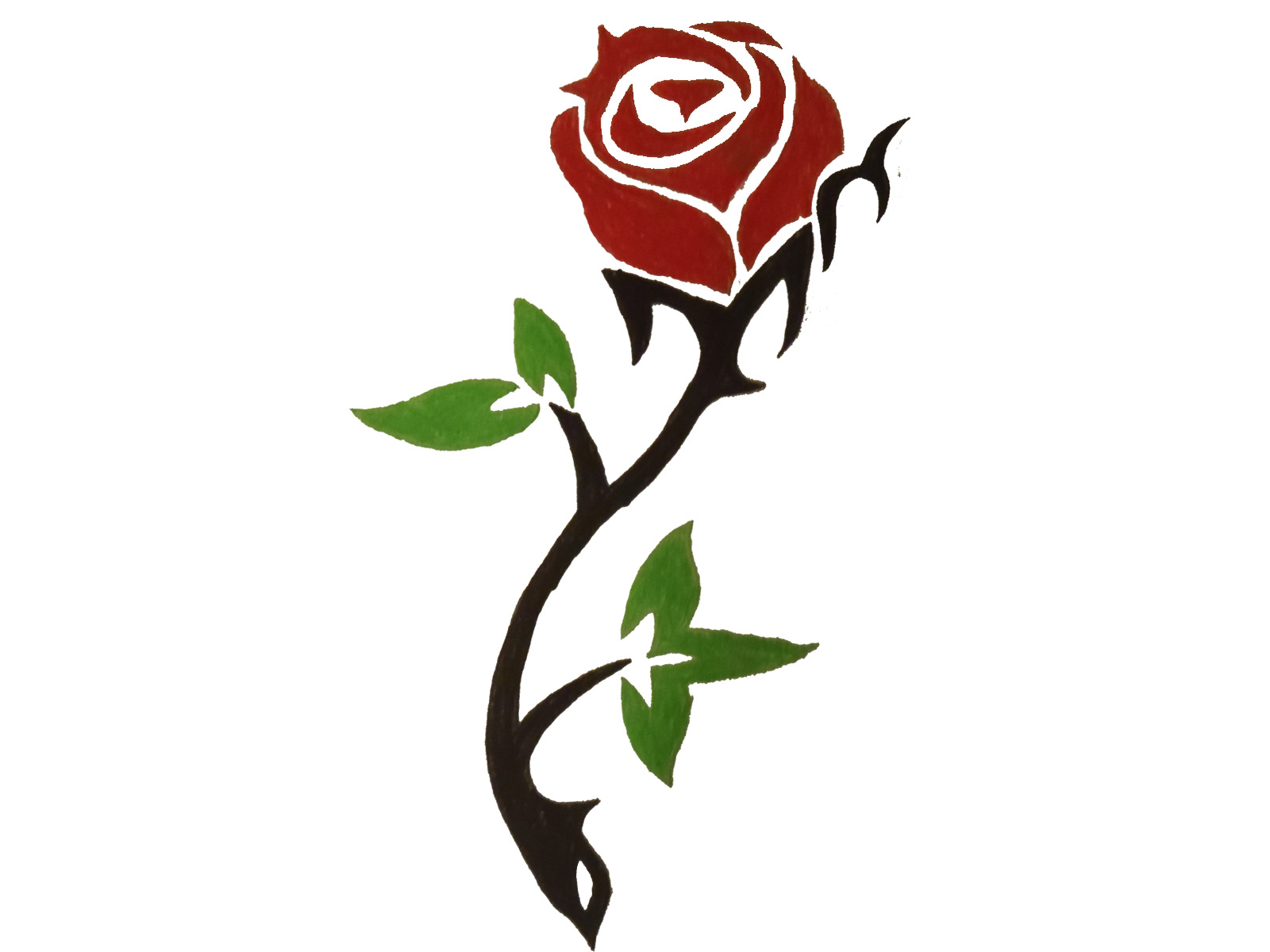 Free rose outlines.
