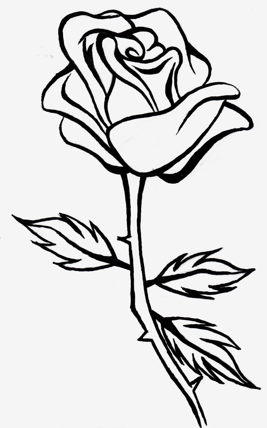 Rose clipart black.