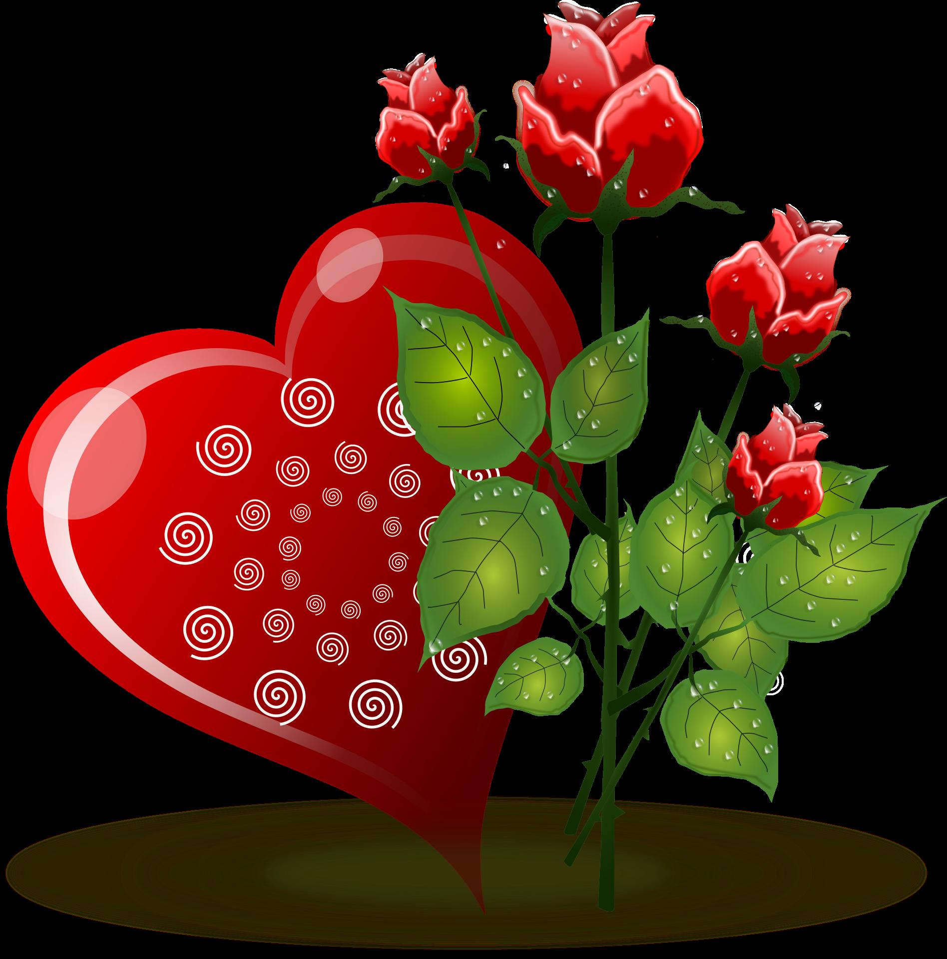 Download heart flower.