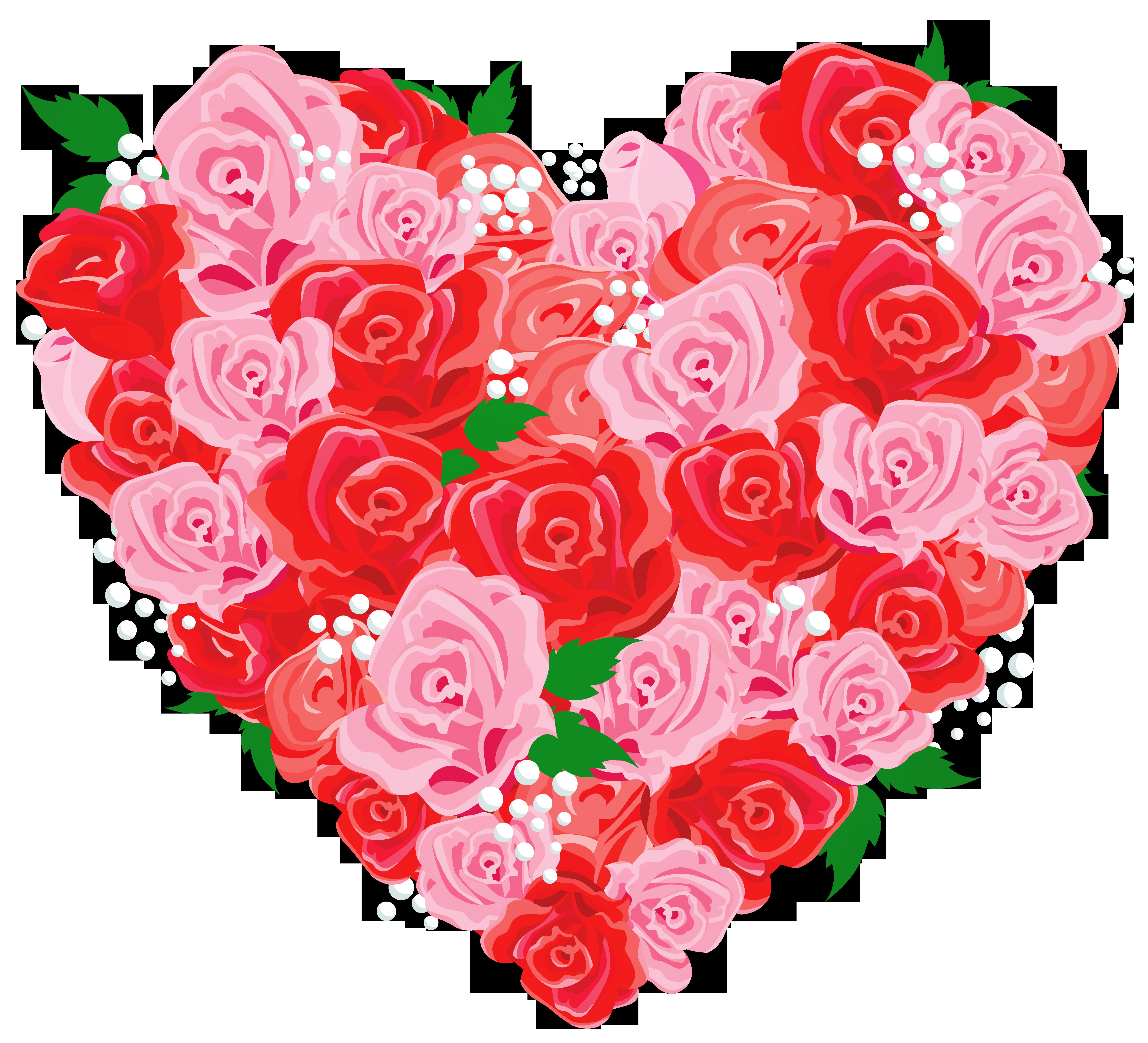 Deco rose heart.