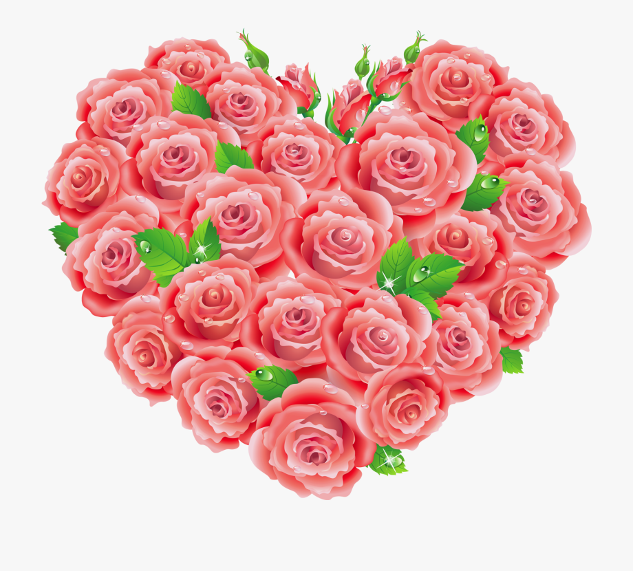 Rose clipart heart.
