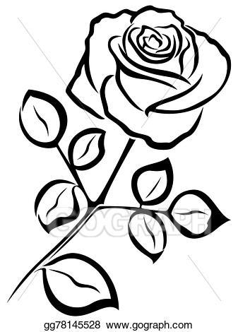 Vector art rose.
