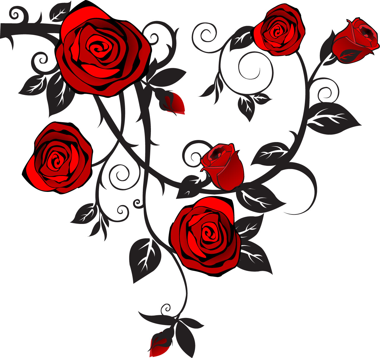 Free vector roses.