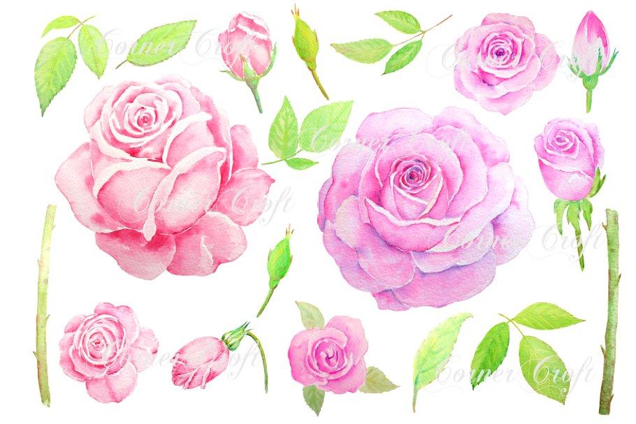Watercolor vintage pink.