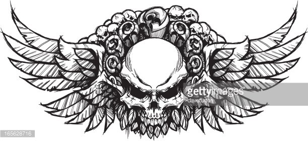 Double winged skull.