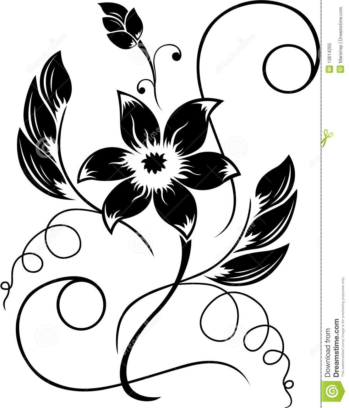 Simple rose drawings.