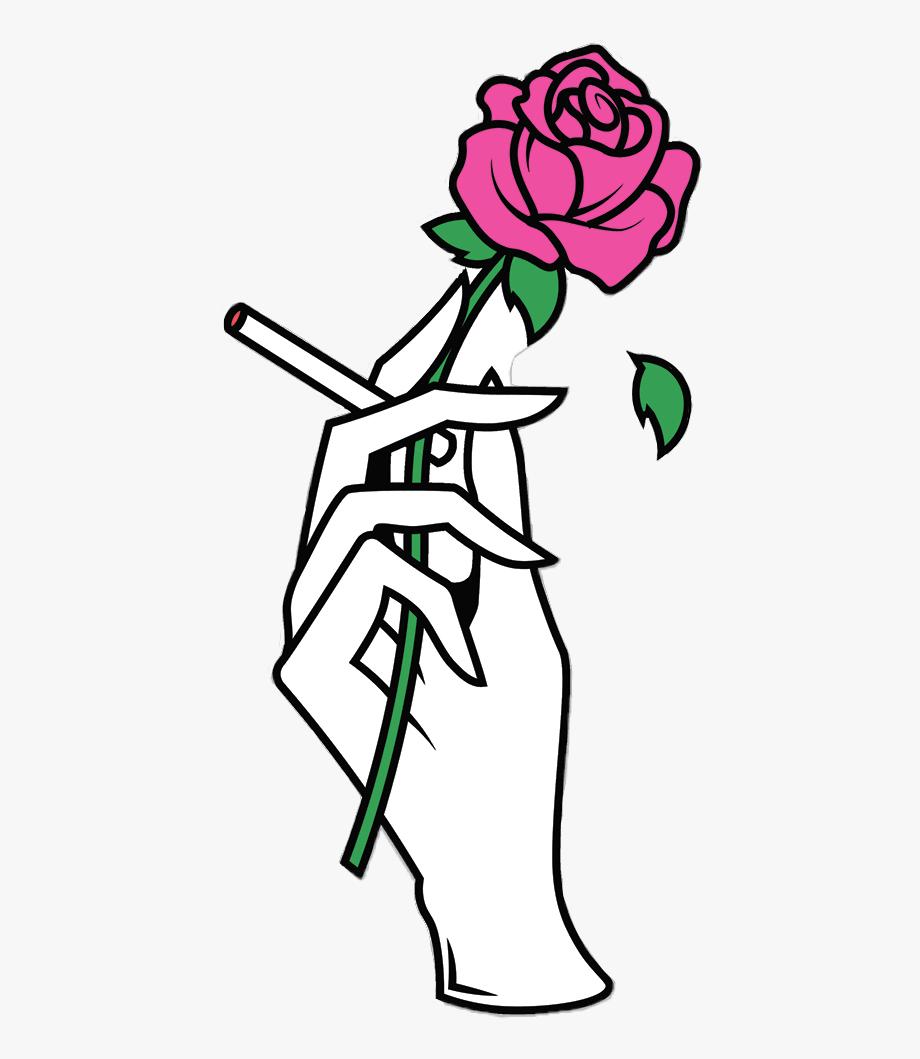 Tumblr hand rose.