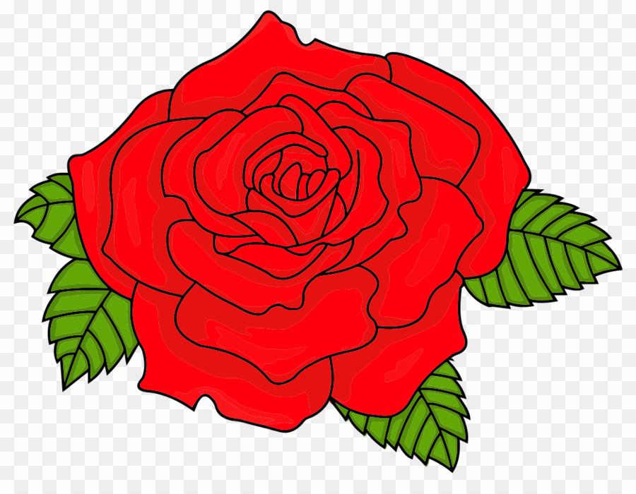 Red rose cartoon.