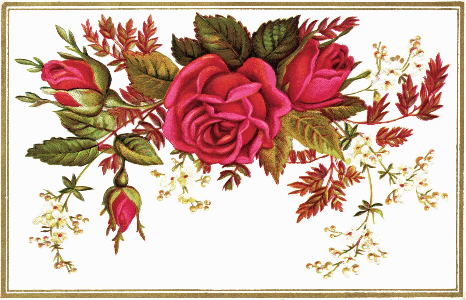Free victorian flowers.
